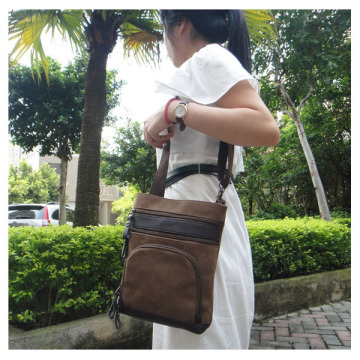 Borong Elegant Classical Leather Mix Canvas Holdall