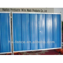 Temporary steel hording panels for rental use