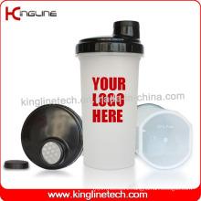 BPA Free, 700ml Plastic Protein Shaker Bottle with Filter (KL-7013D)