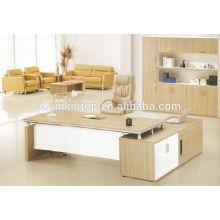 Secretária de móveis de escritório em madeira de teca, mesa de tamanho padrão e mesa final (KT816)