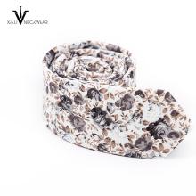 Gravatas florais magros florais macias novas do algodão