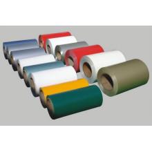 Color cubrió la bobina de aluminio para placa de pared de cortina
