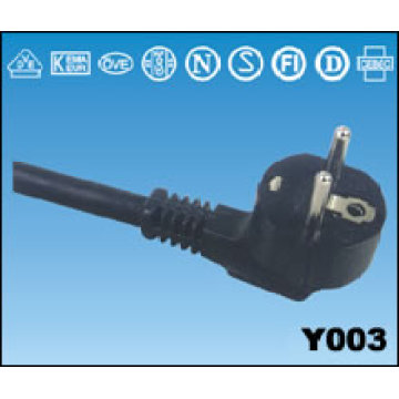 VDE Approval European Power Cords