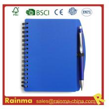 Blaues PVC-Cover-Notizbuch für Schule und Büro
