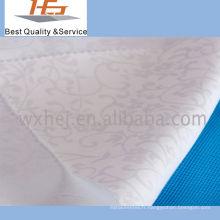 Tissu blanc jacquard