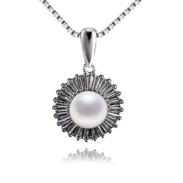 Bijoux en perles de perles d'eau douce en perles de zircon brillantes