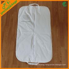 Custom recycle white peva suit garment cover bag