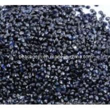 Естественный черный шпинель драгоценный камень комплект ювелирных изделий