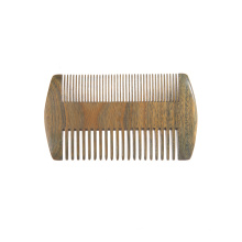FQ marca atacado sândalo barba pente logotipo personalizado dois dentes laterais pente de barba pente de barba portátil