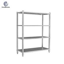 Prateleira de parede de cozinha de aço inoxidável para organização de armazenamento doméstico
