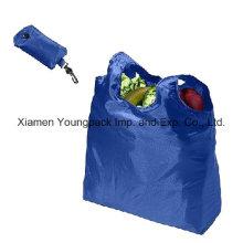 Günstige Werbe-benutzerdefinierte wiederverwendbare 190t Nylon Faltbare Einkaufstasche