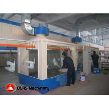 Cabine / Cabinet de jet de peinture de type humide dans la ligne de revêtement