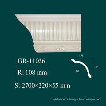construction material polyurethane crown molding for house interior decoration