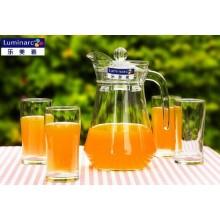 Luminarc Clear 7PCS Glass Drinking Set, 1PC Water Jug et 6PCS Glass Tumbler Glassware Set