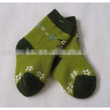 children cotton terry carton socks kids crew full terry socks