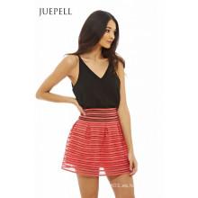Minifalda Block Color Mujer