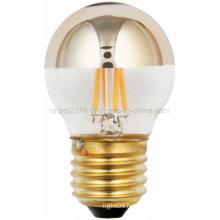 Gold Mirror 45mm 3.5W LED Filament Bulb
