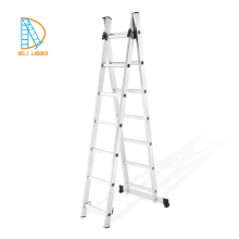 Escalera de escalada de aluminio, escalera extensible de metal de 3 vías