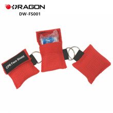 DW-FS001 Top rated emergency CPR mask Face Shield Keychain