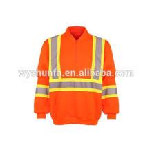 3M High visibility reflective safety fleece wholesale crewneck sweatshirt