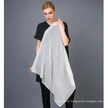 Silk Laser Cutting Scarf Foil Print Silk Scarf