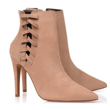 Safety Ladies Winter 2020 Ankle Boots Women Leather With High Heel Genuine Leather Ankle Sex Boots For Women