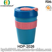 12oz Plastic Single Wall Travel Mug for coffee (HDP-2026)