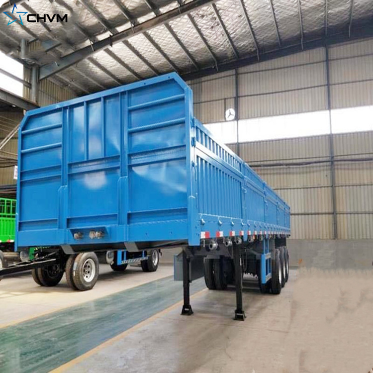 3 Axles Used Flatbed Side Wall Cargo Trailer
