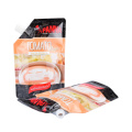Doypack Printing Colorful Matt Glossy Printing Plastic Stand up Bag with Spout Pouch for Potato Jam Sauces Salad Packaging