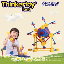 Горячая продажа пластиковых образовательных игрушка здания для 3-6 детей