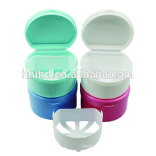 Hot Sale Colourful plastic dental box case for keeping denture cleaning