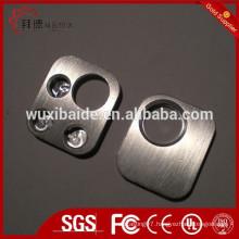 OEM cnc machining valve block/bearing block, cnc machined blocks with drilling holes