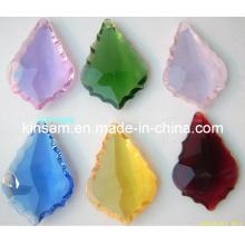 Peças de candelabro de cristal colorido pequeno