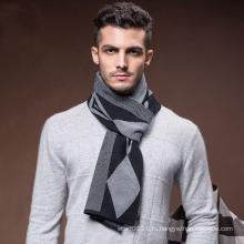 Мужская новая мода шерсть нейлон акрил сплетенные шарф зимы (YKY4615)
