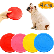 4 Pack Silicone Dog Flying Disc