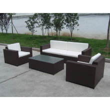 Pe Rattan Outdoor Stylish Steel Sofa Chair Set