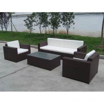 Pe Rattan Outdoor Stylish Steel Sofa Chair Set