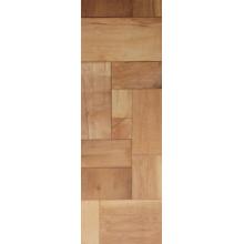 Piso laminado resistente al agua de la teca de la textura de la madera de 12.3mm del anuncio publicitario