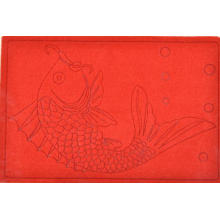 Anti-Slip Carved Door Mat Carpet with PVC Back