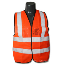 Colete de segurança de alta visibilidade reflexiva laranja ANSI / isea en471 tráfego (yky2822)
