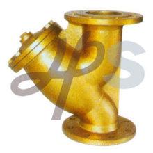 Высокое качество латунь литейную фланцем стрейнер