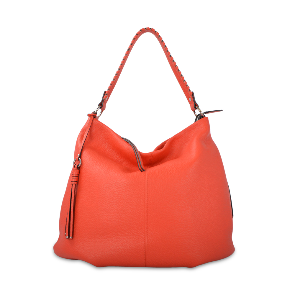latest design genuine cow leather lady hobo bags