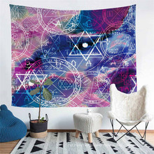 with 3D Printed Magic Alchemy Pattern, Tapestry, Beach Picnic Camping Pad