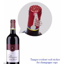 ZOLO popular etiqueta de segurança personalizada, void segurança anti-falsificação marca etiqueta do vinho