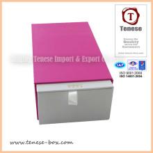 Nova caixa de embalagem de cartão de presente com logotipo