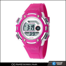 six color design PU band 30M WR sports thin digital watch
