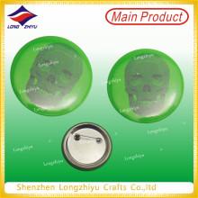 Green Printing Tinplate Badge Lapel Pin Printed Tinplate