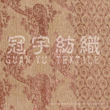 Tecido decorativo de chenille para uso em cortinas