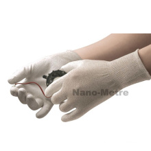 ESD gloves carbon liner oated PU on palm