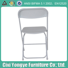 White Metal Frame Plastic Folding Chair for Party